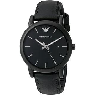 Emporio Armani Men's AR1973 'Luigi' Black Leather Watch