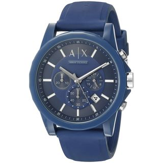 Armani Exchange Unisex AX1327 'Active' Chronograph Blue Silicone Watch