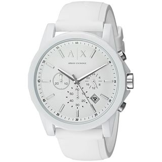 Armani Exchange Unisex AX1325 'Active' Chronograph White Silicone Watch