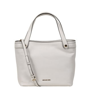 Michael Kors Optic White Medium Hyland Convertible Tote Bag