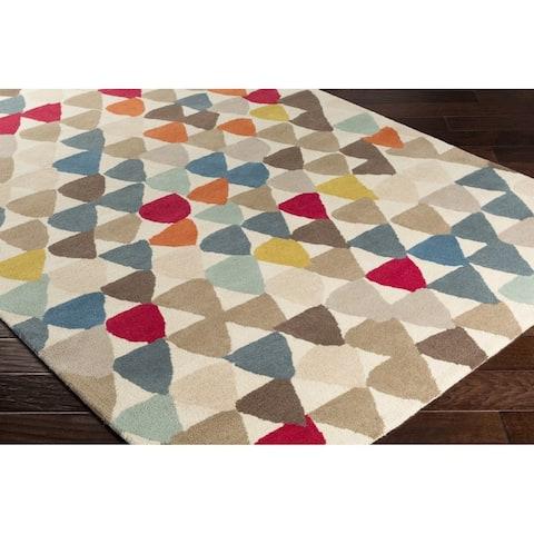 Carson Carrington Kauhava Hand-tufted New Zealand Wool Geometric Area Rug