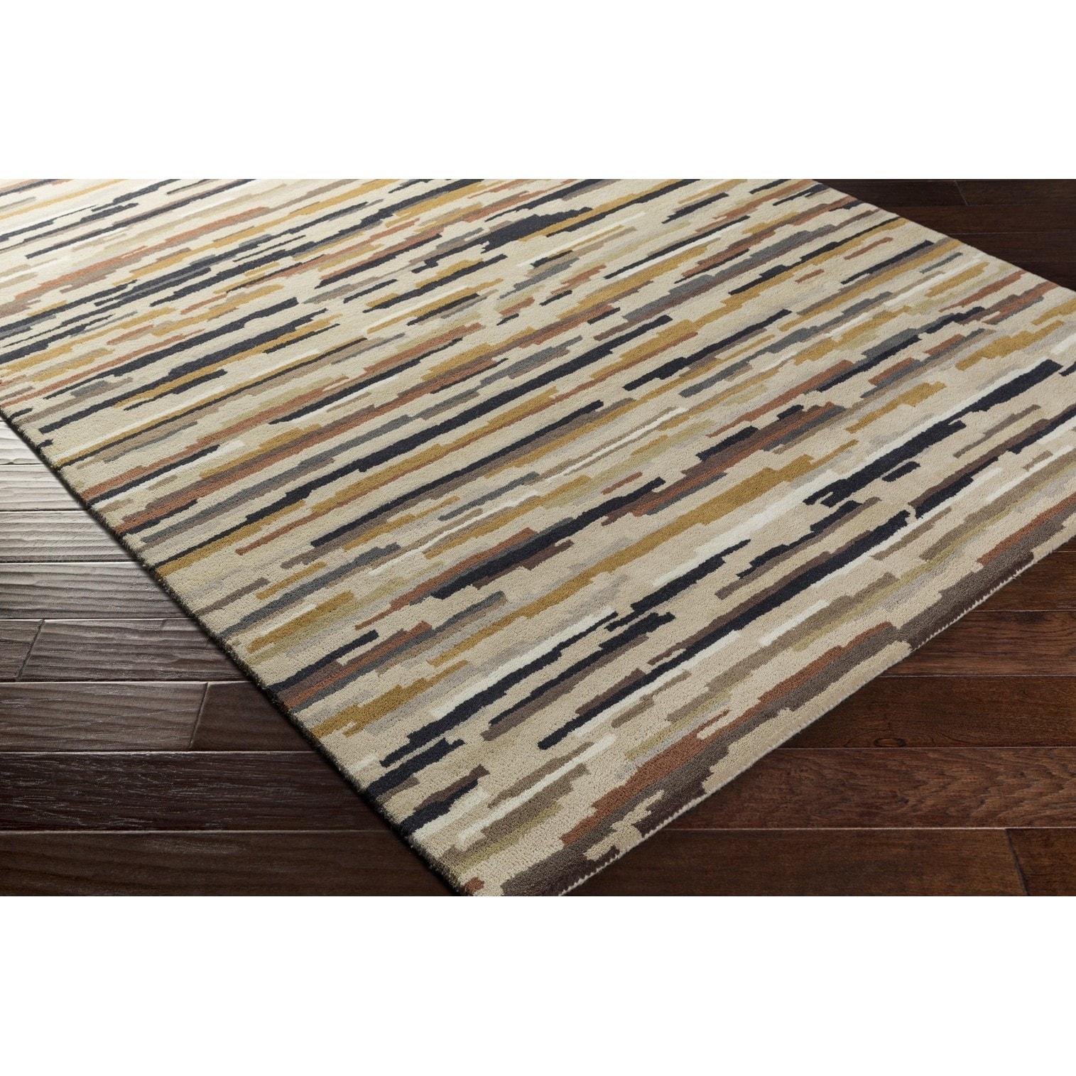 Hand Tufted Hyatt Wool Rug (5' x 8') (Beige), Size 5' x 8'