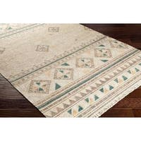 The Curated Nomad Pioche Hand-woven Jute Reversible Tribal Area Rug