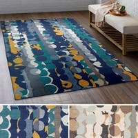 Hand Tufted Lantern Wool Area Rug (5' x 7'6)