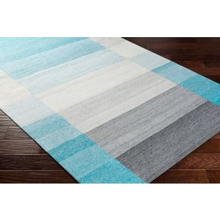 Palm Canyon Neptune Hand Woven Viscose/Wool Area Rug (8' x 10')
