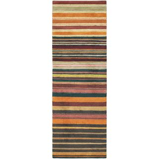 Hand Knotted Locust New Zealand Wool Rug (3'4 x 9'10)