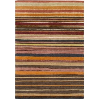 Hand Knotted Locust New Zealand Wool Rug (6'7 x 9'10)