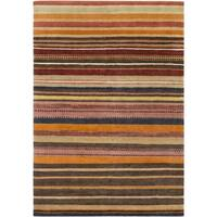 Hand Knotted Locust New Zealand Wool Area Rug - 6'7 x 9'10