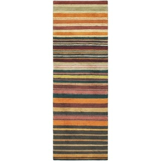 Hand Knotted Locust New Zealand Wool Area Rug - 4'7 x 6'7