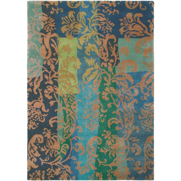"""Hand Knotted Long New Zealand Wool Area Rug - 4'7"""" x 6'7"""""""