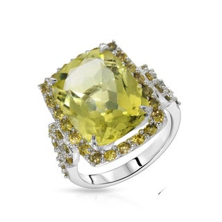 Fay Pay Jewels 14k Gold 10.81-carat Total Weight Quartz Ring