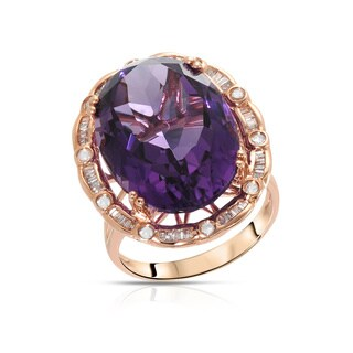 Fay Pay Jewels 14k Gold 12.91-carat Size 5 Amethyst Ring