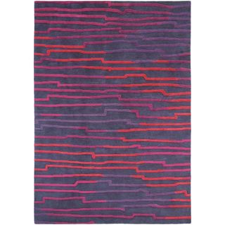 Hand Knotted Mall New Zealand Wool Area Rug - 4'7 x 6'7