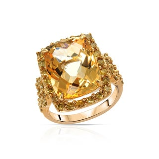 Fay Pay Jewels 14k Gold Citrine/Diamond Ring