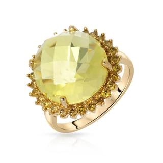 Fay Pay Jewels 14k Gold 12.28 CTW Quartz Ring