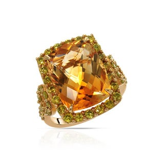 Fay Pay Jewels 10k Yellow Gold 11.10 CTW Citrine Ring