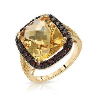 Fay Pay Jewels 14K Gold Citrine Diamond Size 7 Ring