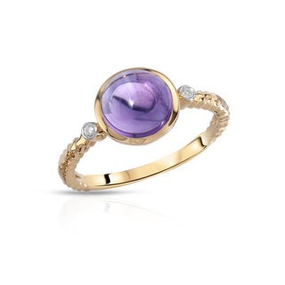 Fay Pay Jewels 14k Gold 2.09 CTW Amethyst Size 7 Ring