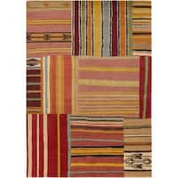 "Hand Knotted Mechanic New Zealand Wool Area Rug - 5'7"" x 7'10"""