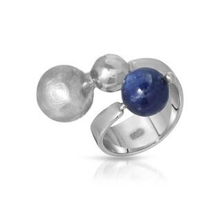 ADAMI & MARTUCCI Sterling Silver Blue Kyanite Size 6.5 Ring