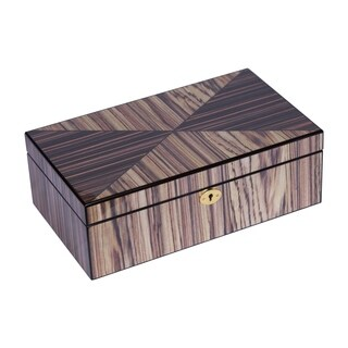 Zebra Wood Cremation Box