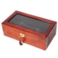 Brown Fabric/Glass/Wood Gun Collector Box