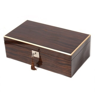 Ebony Veneer Gun/Knife Collector Box With Contrasting Trim