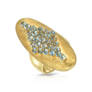 Adami and Martucci Gold-plated Silver Topaz Size 7 Ring