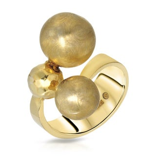 Adami & Martucci Goldplated Silver Ring