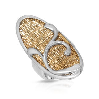 Adami and Martucci Gold Plated Silver Size 8.5 Ring