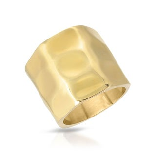 Adami & Martucci Gold-plated Silver Size 7 Ring