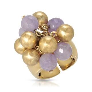 Adami & Martucci Goldplated Silver Amethyst Ring