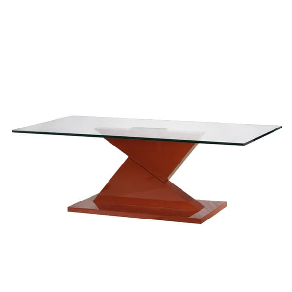 Shop Eli Red Glass Coffee Table