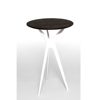 Evolve Walnut Round Side Table