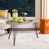 Safavieh Mid-Century Rocco Light Grey / Black Coffee Table