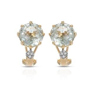 Fay Pay Jewels 14k Gold Amethyst, Diamond Earrings