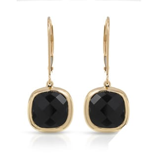 Fay Pay Jewels 14k White Gold 7.02-carat Onyx and Diamond Earrings