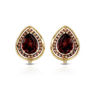 Fay Pay Jewels 14k Gold 5.17-carat TW Garnet Earrings