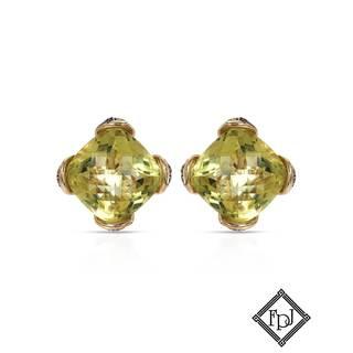 Fay Pay Jewels 14k Gold 15 1/5ct TW Quartz Earrings