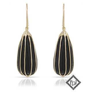 Fay Pay Jewels 14k Yellow Gold 17 1/2ct TW Onyx Earrings