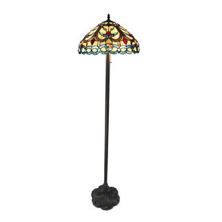 Chloe Tiffany Style Victorian Design 2-light Antique Bronze Floor Lamp
