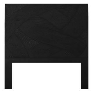 Black Swirl Rattan Twin-size Headboard