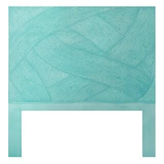 Blue Swirl Rattan Twin-size Headboard