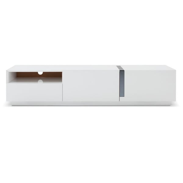 Shop Monica White High Gloss Tv Stand Free Shipping Today