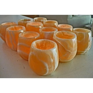 Handmade 12 Pear-shaped Tea Light Votives (Egypt)