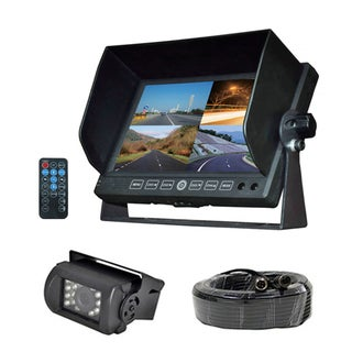 Pyle PLCMTRDVR41 Waterproof DVR Driving Camera System with 7 inch Monitor Kit for Bus Truck Trailer Van RV Camper
