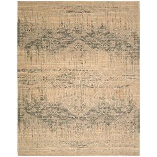 Nourison Silk Elements Beige Area Rug (2'3 x 3')