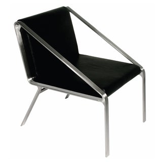 Owen Black Leather Accent Chair