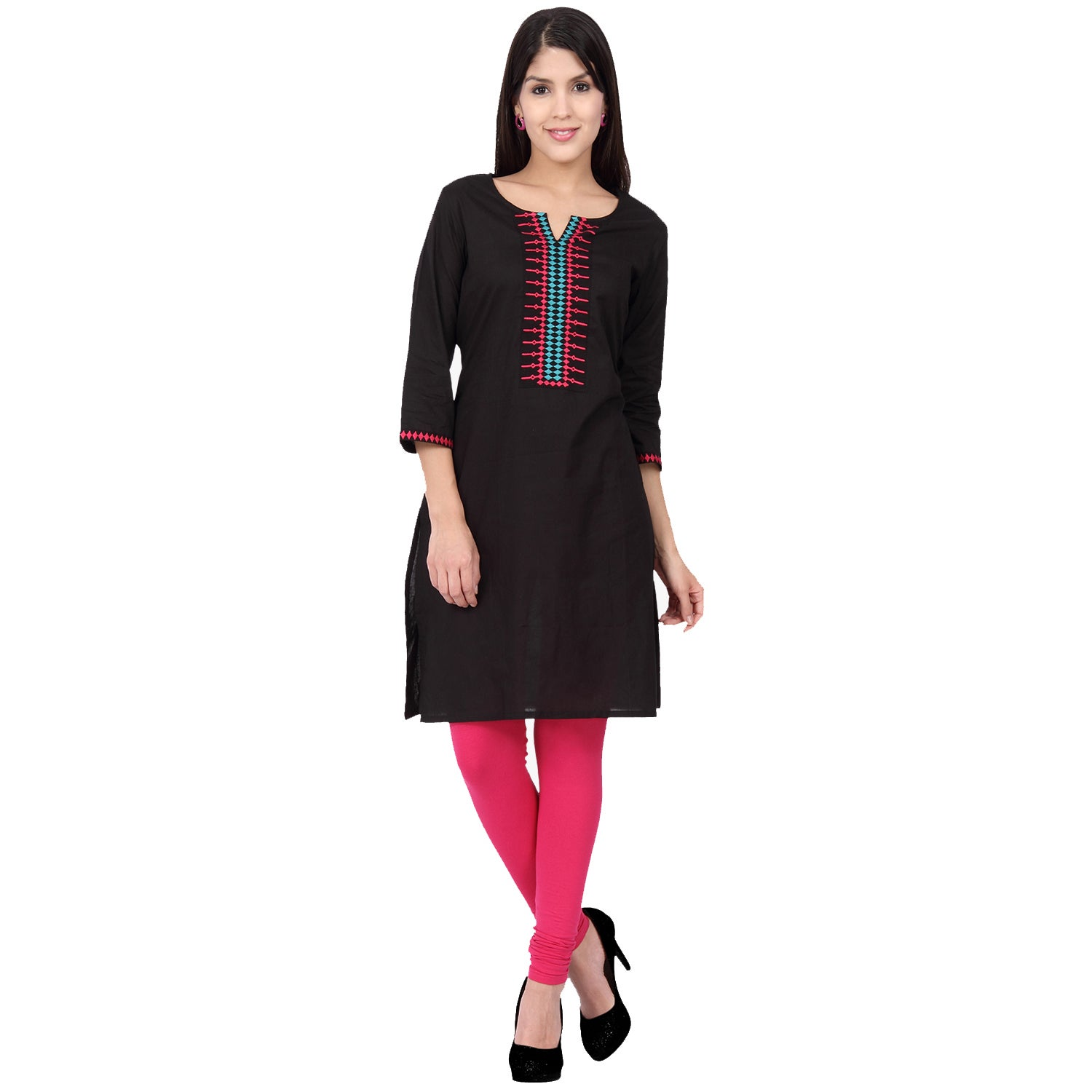 In-Sattva Ethnicity Women's Indian Fine Embroidered Class...
