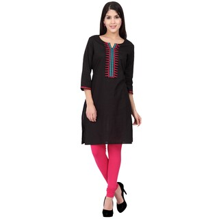 Handmade In-Sattva Ethnicity Women's Indian Fine Embroidered Classic Kurta Tunic (India)
